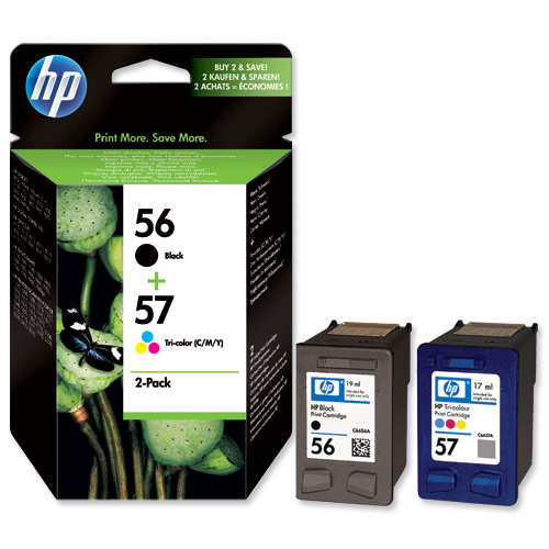 HP - 56+57 - SA342A - PACK 2 INK HP N.56 + N.57 - 1CONF.