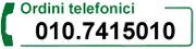 Ordina via Telefono - Consegne in tutta Italia
